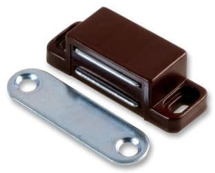 DURATOOL D00845  Magnetic Catch, Small, Brown (Pk10)